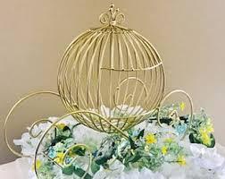 Carriage Centerpiece Wire Cinderella Carriage White Wedding Centerpiece Princess