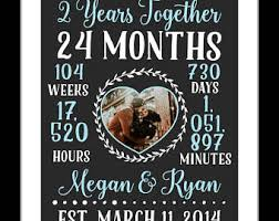 2nd year anniversary gifts for him 2 year anniversary etsy