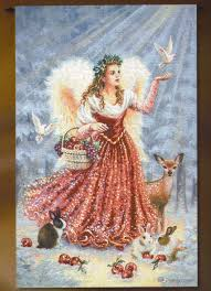 christmas angel christmas decor idea christmas angel tapestry wall hanging h53 x