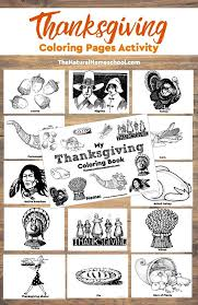 printable thanksgiving coloring pages activity natural