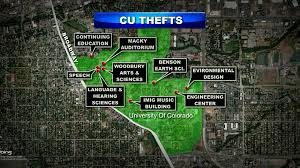 Colorado College Campus Map by Thefts At Cu In Boulder On The Rise Cbs Denver