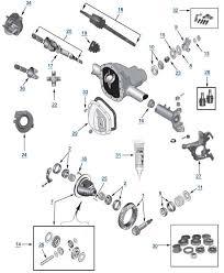 wj grand cherokee model 30 front axle 4 wheel parts