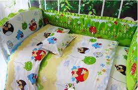 green angry birds crib bedding cotton bedding