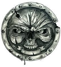 skull shield tattoo design by jamesrm on deviantart
