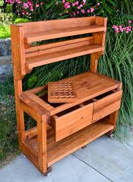 Outdoor Potters Bench Ideas Accent Your Garden With Splendid Potting Bench With Sink
