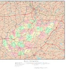 Maps Virginia by West Virginia Political Map