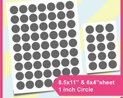 1 Inch Circle Template by 1 Inch Circle Template Etsy