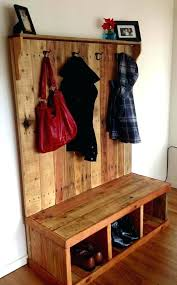 coat rack with storage bench with coat hooks hallway bench and