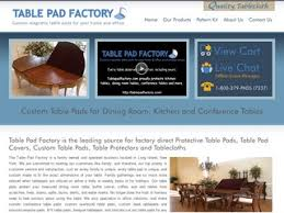 table pad factory rated 5 5 stars by 2 consumers tablepadfactory