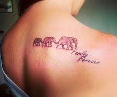 What Do Elephant Tattoos Three Elephant Tattoos On Upperback I Of The Idea Of One