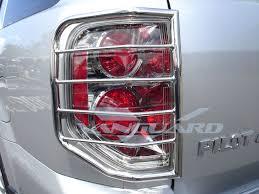 honda pilot tail light tail light guard cover s s auto beauty vanguard