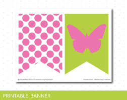 butterfly banner in pink and green printable butterfly birthday