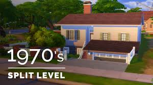 Split Level Style House Sims 4 Decade Build Series 1970s Family Split Level Youtube