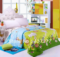 Discount Designer Duvet Covers Designer Forest Flower Animal Bedding For Kids Teen Twin Full