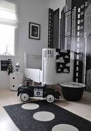 baby black and white nursery themes for baby boys with police