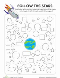 shapes maze maze worksheets and the star