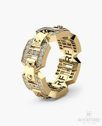 gold wedding rings for briggs mens gold wedding band with diamonds rockford collection