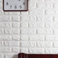 newest 3d effect flexible stone brick wall viny wallpaper self