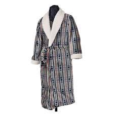 robe de chambre pour homme robe de chambre pour homme polaire col châle motif à carreaux noir