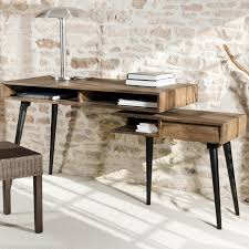 bureau metal bois bureau metal industriel fabulous desk in metal and black