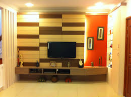 cheery living room butternut finishing wall mounted floating tv
