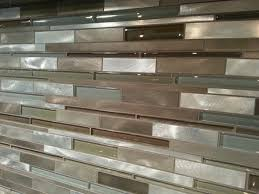 Our Kitchen Tile Backsplash Is A Mixed Glass And Metal Tile - Glass and metal tile backsplash