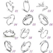 sterling rings images New 925 sterling silver jewerly rings dolphins dragonfly wings of jpg