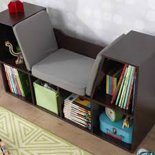bookcase with reading nook espresso