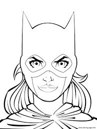 supergirl batgirl coloring pages printable