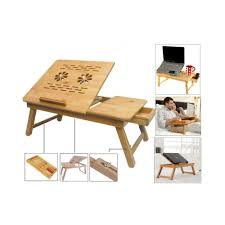 Laptop Desk With Cushion by Sg Wooden Laptop E Table Multipurpose Cooling Pads Stands