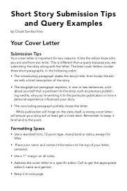 cover letter short story sample query letter the best