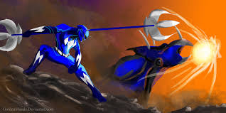blue power ranger fan art goldenmurals deviantart