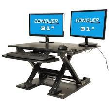 Standing Desk Electric Mind Reader Black Metal Electric Powered Adjustable Standing Desk