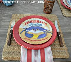 Online Home Decor Stores Cheap Seafood Dinner Party Tablescape Celebrate U0026 Decorate