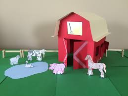 3d paper barn project youtube
