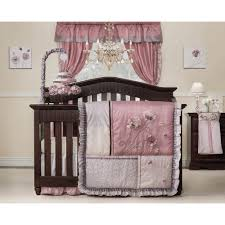 Pink And Brown Curtains For Nursery by Nursery Cute And Smooth Ladybug Crib Bedding For Sweet Nursery