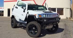 lifted lamborghini on the road with zoom customized hummer h2 with lambo doors
