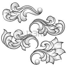 135 115 baroque ornament cliparts stock vector and royalty free