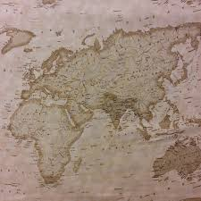 Map Quilt Mo09 Moda Sepia Map Of The World Atlas Continent Quilt Cotton