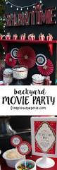 backyard movie party and popcorn bar ideas