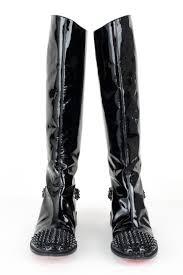 christian louboutin boots christian louboutin black patent