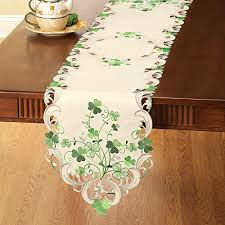 st patrick s day table runner st patrick s day tablecloths st patrick s day party supplies