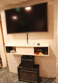 Led Tv Wall Mount With Shelves Furniture Trend Decoration Floating Wall Shelf Design Ideas For
