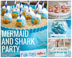 the sea party ideas the sea a joint shark and mermaid birthday party pretty real