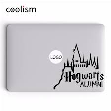 hogwarts alumni decal aliexpress buy cool magic theme laptop sticker for macbook