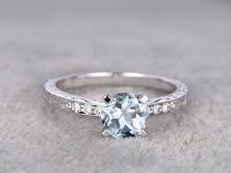 aquamarine and diamond ring filigree promise band white gold aquamarine engagement rings bbbgem