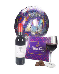 40th birthday delivery wine and chocolates 40th birthday gift price inc next day