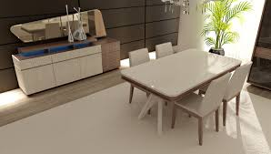 dining room interior furniture unique white leather upholstered