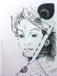 gallery easy pencil drawings lordkrishna drawing art gallery