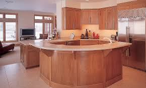 birch kitchen island curved island birch cabinetry by mullet cabinet in millersburg